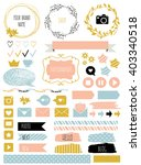 blog design set with ribbons ... | Shutterstock .eps vector #403340518