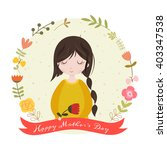 happy mothers day card with... | Shutterstock . vector #403347538