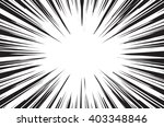 sun rays for comic books radial ... | Shutterstock .eps vector #403348846