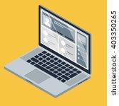 isometric vector notebook... | Shutterstock .eps vector #403350265
