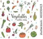 vector vegetable drawing... | Shutterstock .eps vector #403350415