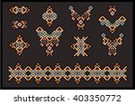 big set of ethnic jewelry  art  ... | Shutterstock .eps vector #403350772