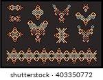big set of ethnic jewelry  art  ... | Shutterstock .eps vector #403350772