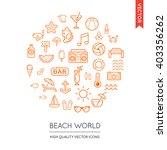vector set of beach modern flat ... | Shutterstock .eps vector #403356262