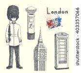 hand drawn london symbols... | Shutterstock .eps vector #403357066