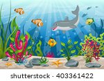 illustration of underwater... | Shutterstock .eps vector #403361422