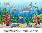 illustration of underwater... | Shutterstock .eps vector #403361422