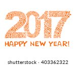 2017 happy new year greeting... | Shutterstock .eps vector #403362322