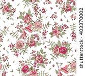 floral vector seamless pattern | Shutterstock .eps vector #403370002