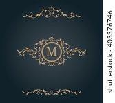 vintage monogram template | Shutterstock .eps vector #403376746