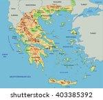 high detailed greece physical... | Shutterstock .eps vector #403385392