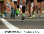 marathon running in the light... | Shutterstock . vector #403388272