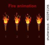 torch fire animation sprites ... | Shutterstock .eps vector #403391146