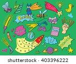 comic children pattern | Shutterstock .eps vector #403396222
