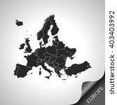 map of europe | Shutterstock .eps vector #403403992