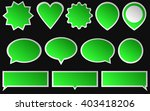 set of green stickers isolated... | Shutterstock .eps vector #403418206