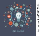 idea creative concept design on ... | Shutterstock .eps vector #403425316