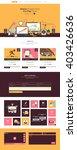 flat design website template