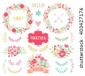 wedding vintage elements... | Shutterstock .eps vector #403427176