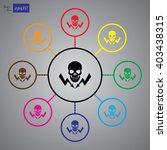 danger high voltage vector icon | Shutterstock .eps vector #403438315