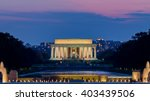 lincoln memorial at night time  ...   Shutterstock . vector #403439506