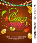 poster or party flyer of cinco... | Shutterstock .eps vector #403440775