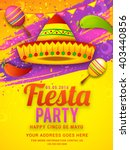 poster or party flyer of cinco...   Shutterstock .eps vector #403440856