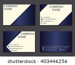 vector vintage business card... | Shutterstock .eps vector #403446256