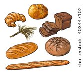 set bread products  pastries... | Shutterstock .eps vector #403447102