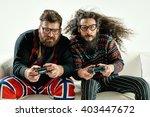 funny portrait of two best... | Shutterstock . vector #403447672