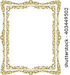 gold photo frame with corner... | Shutterstock .eps vector #403449502