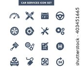 car services icon set  vehicle...