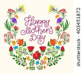 lettering happy mothers day... | Shutterstock .eps vector #403451872