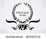 vintage background | Shutterstock .eps vector #40345213