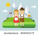 the girl and the guy in the... | Shutterstock .eps vector #403452172