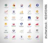 financial icons set isolated on ... | Shutterstock .eps vector #403453486