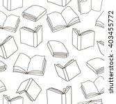seamless outline books pattern. ... | Shutterstock .eps vector #403455772