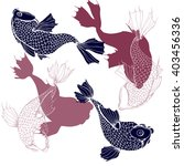 pattern with chinese carps.... | Shutterstock .eps vector #403456336