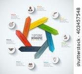 vector arrows infographic.... | Shutterstock .eps vector #403457548