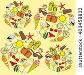 symbols of summer vacation | Shutterstock .eps vector #403458832