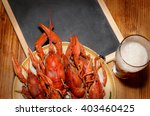 Boiled Crawfish And Glass Of...