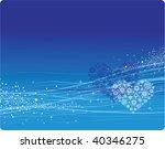 blue winter background. vector... | Shutterstock .eps vector #40346275