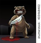 evil teddy bear killer stay in... | Shutterstock .eps vector #403468402