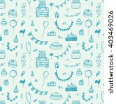 happy birthday vintage pattern... | Shutterstock .eps vector #403469026
