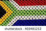south african flag made from... | Shutterstock . vector #403481212