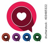 flat icons heart for web ... | Shutterstock .eps vector #403485322