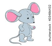 little mouse soft toy plush | Shutterstock .eps vector #403486432
