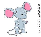 little mouse soft toy plush | Shutterstock .eps vector #403486432
