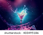 colourful cocktail in glass... | Shutterstock . vector #403495186