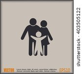 happy family icon in simple... | Shutterstock .eps vector #403505122